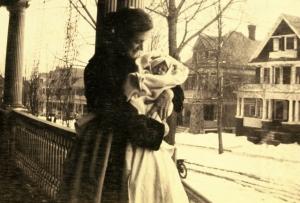 grace-maloney-w-her-new-baby-1915